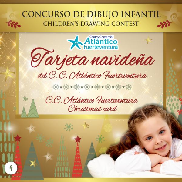 Concurso de dibujo infantil. Felicitación navideña del CC Atlántico Fuerteventura